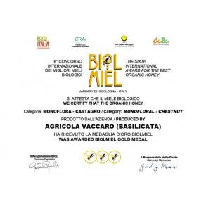 Premio Miele biologico di castagno