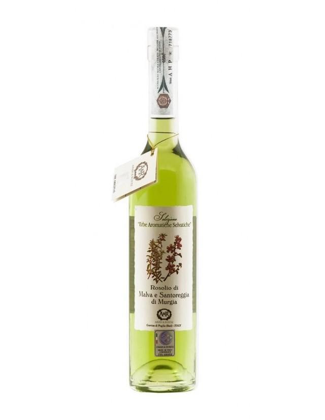 Liquore digestivo artigianale pugliese  a base di Malva e Santoreggia
