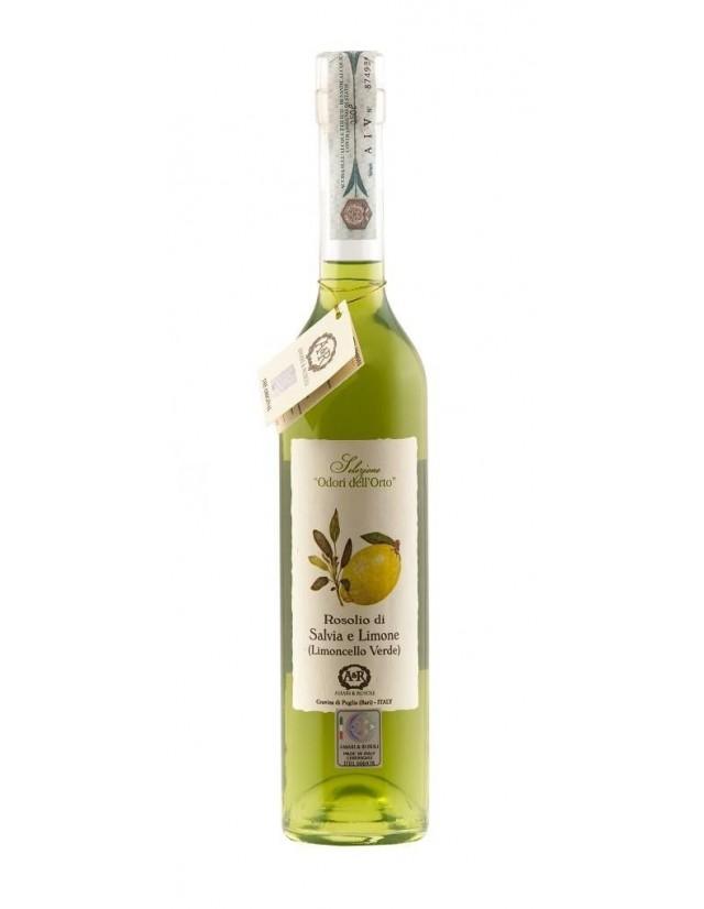 Liquore digestivo artigianale a base di salvia e limone