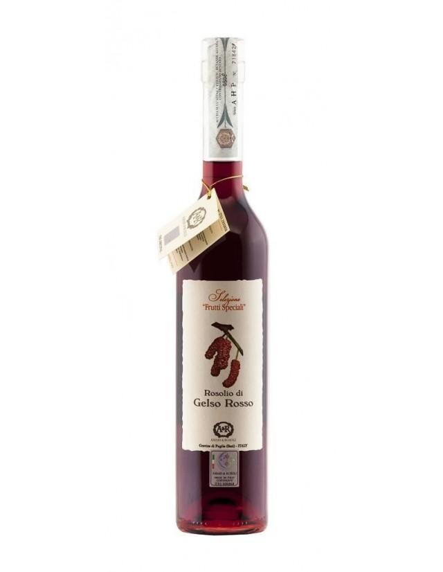 Liquore digestivo artigianale a base di frutti di gelso rosso