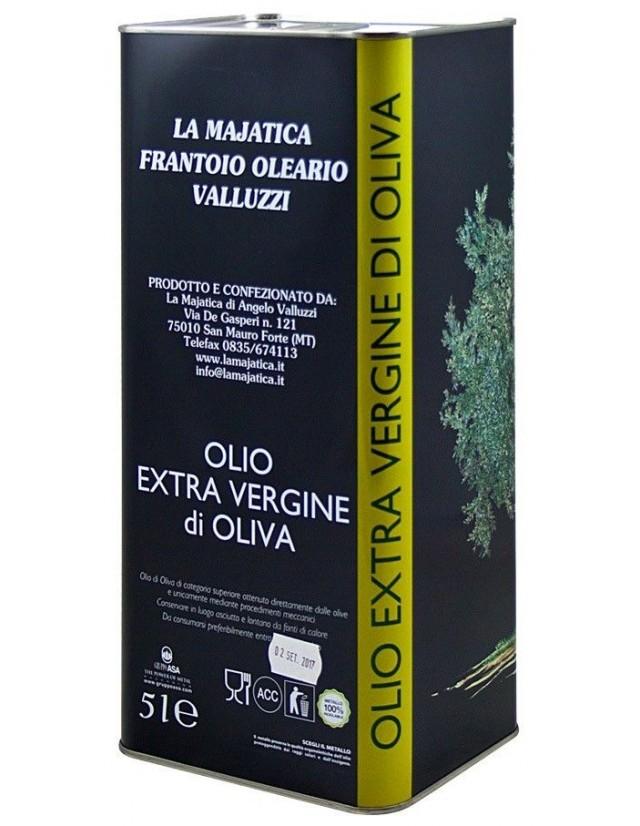 Latta da 5 litri di olio extravergine di Majatica Valluzzi di San Mauro Forte (Basilicata)