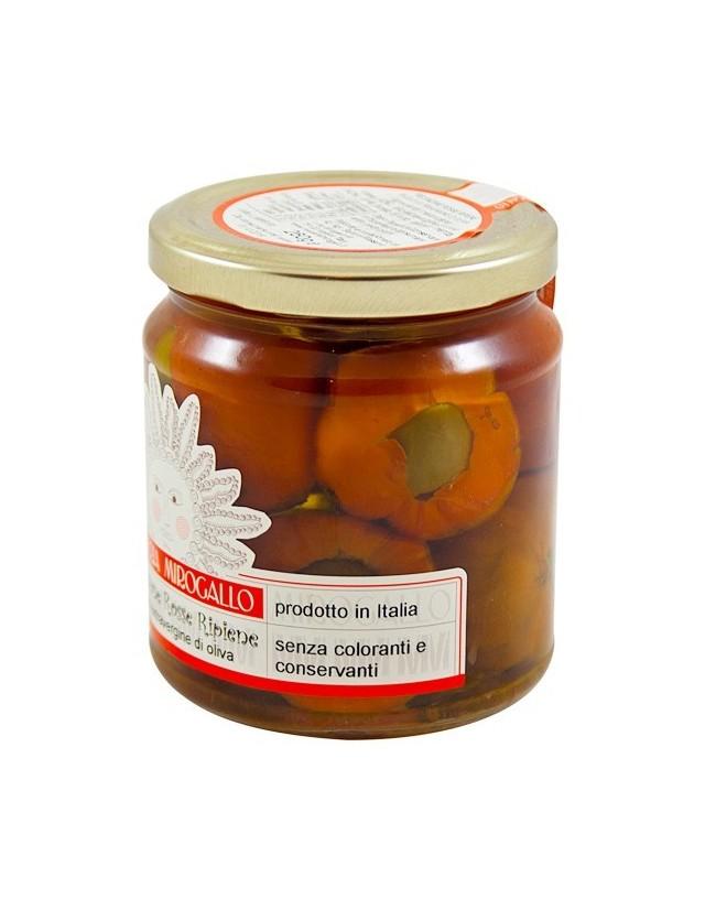 Melanzane rosse di Basilicata ripiene di olive, capperi e menta