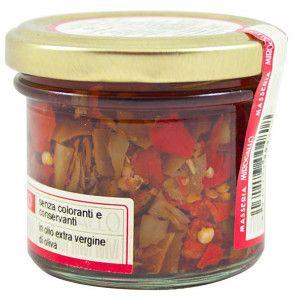 Olio santo, peperoncino piccante a pezzetti in olio extra vergine