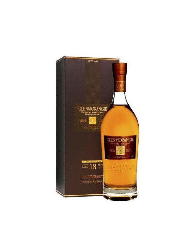 Glenmorangie 18 years old scotch whisky astucciato