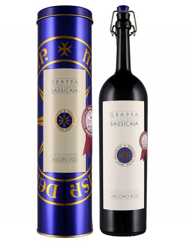 Grappa di Sassicaia distillata da Jacopo Poli