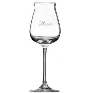 Bicchiere ideale per gustare la grappa artigianale. Originale serigrafato Berta