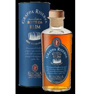 Grappa Sibona Riserva invecchiata in botti da Rum