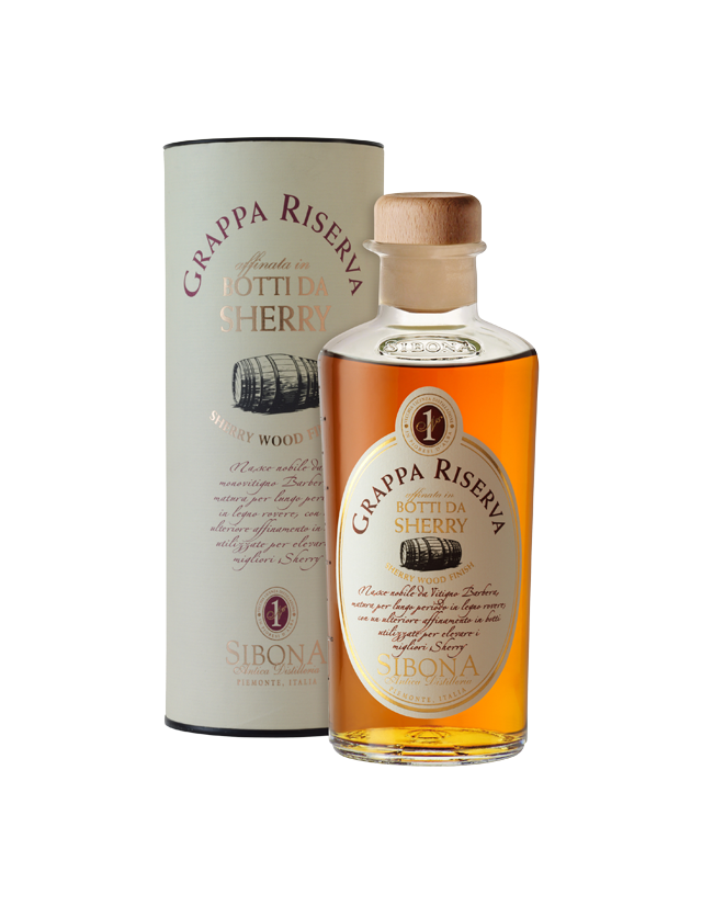 Grappa Sibona invecchiata in botti da Sherry