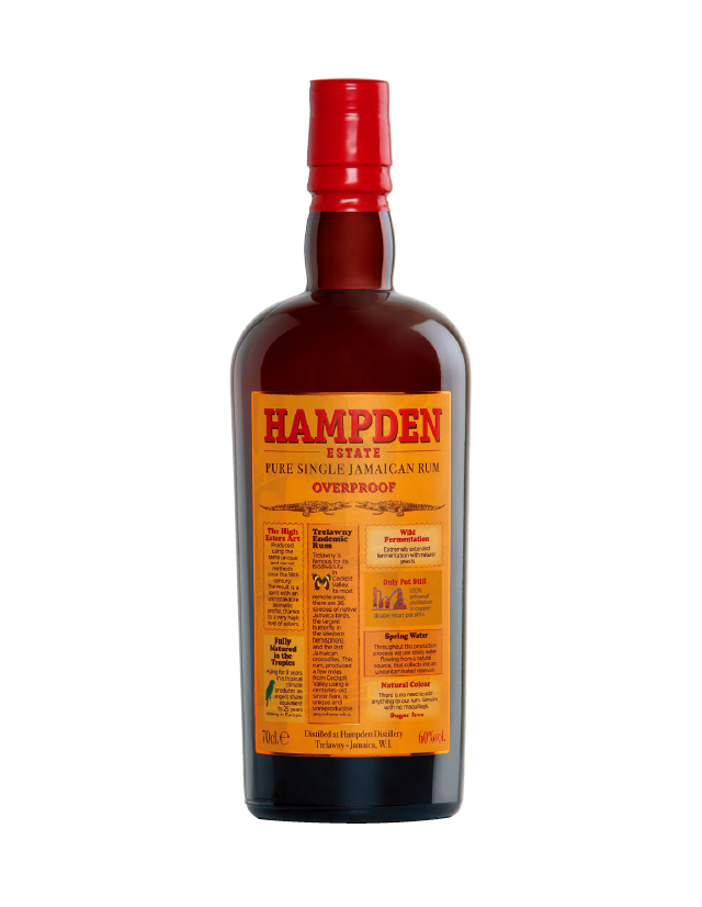 Jamaican Rum Overproof Hampden Estate