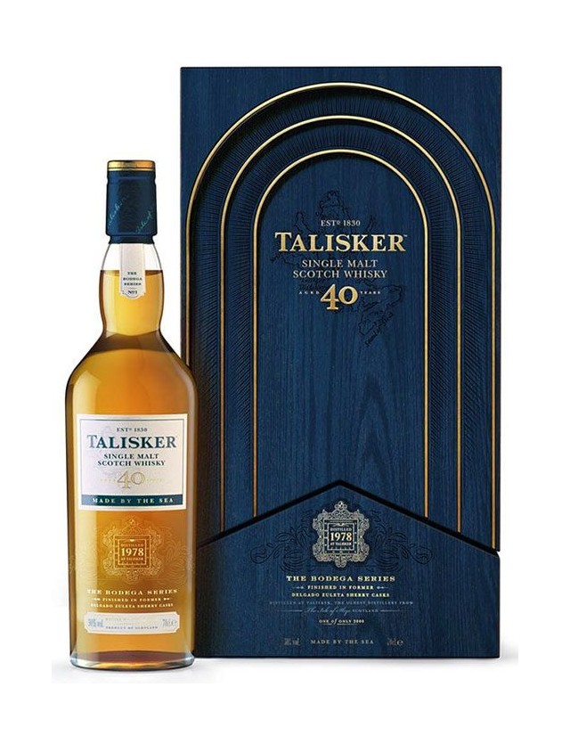 Single Malt Scotch Whisky Talisker 40 years old