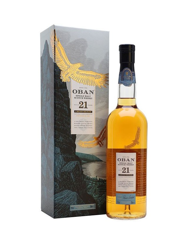 Oban 21 years old scotch whisky special release 2018