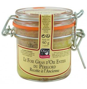 Fegato grasso francese d'oca intero in vasetto di vetro