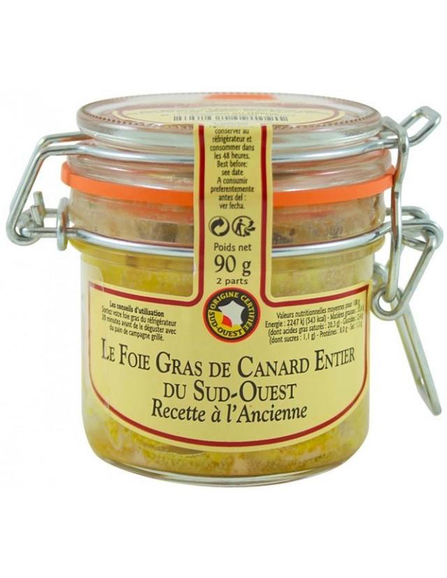 Fegato grasso intero d'anatra conservato in vasetto di vetro, originale francese