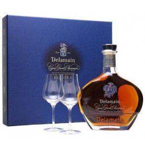 Cognac Delamain Extra in confezione regalo con 2 calici