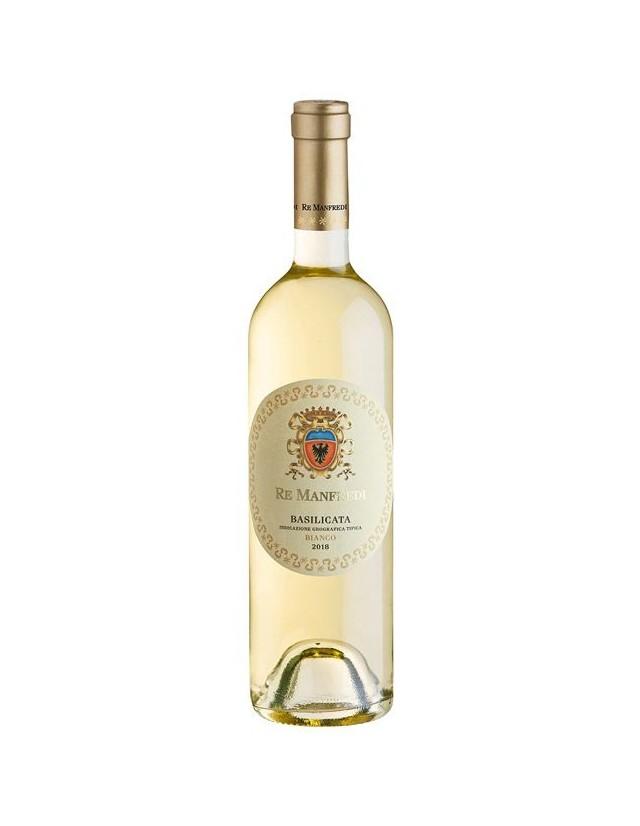 Vino bianco Re Manfredi ottenuto da  Traminer e Muller Thurgau