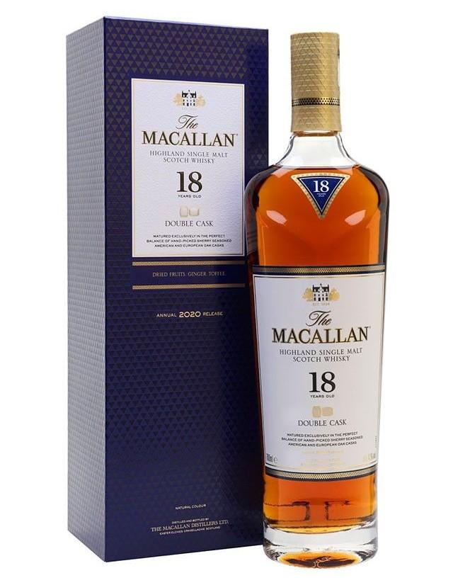 Macallan 18 double cask whisky