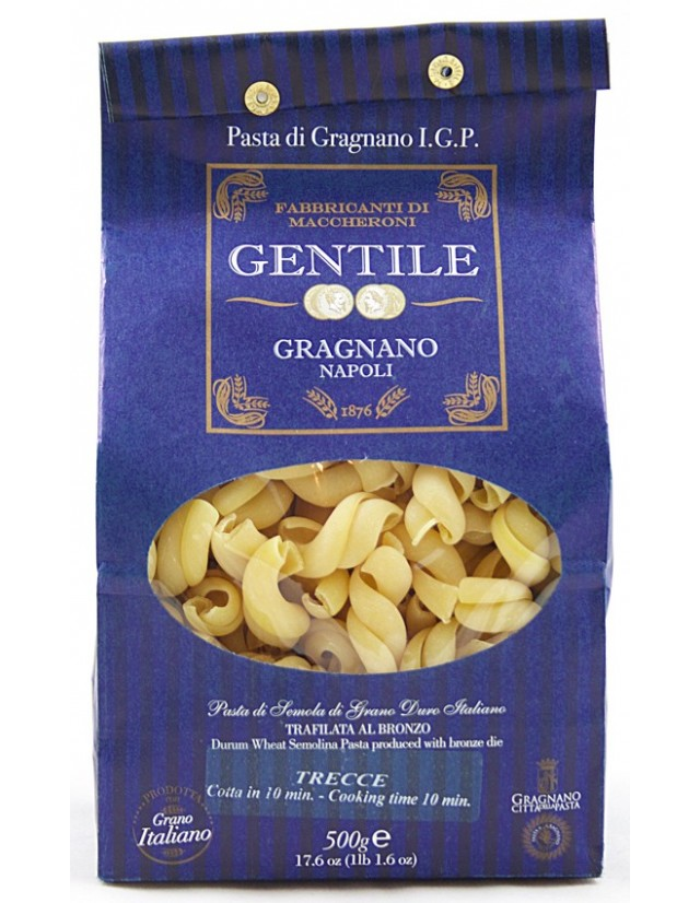 Pasta di Gragnano formato Trecce del pastificio Gentile