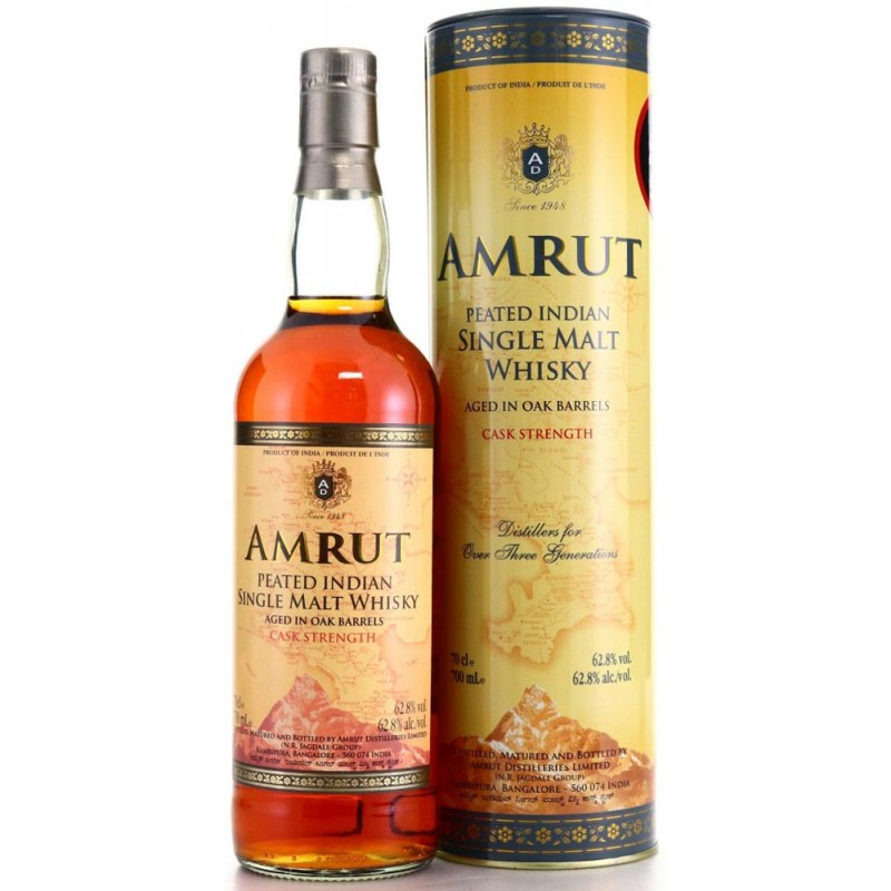 Whisky Amrut Peated Cask Strenght