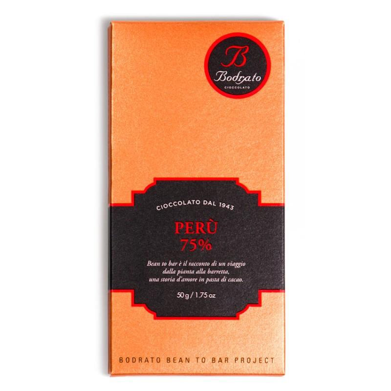 tavoletta di cioccolato monorigine Perù 75% Bodrato