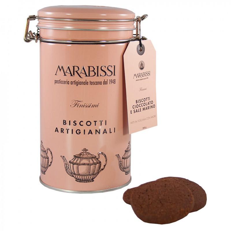 Biscotti artigianali cioccolato e sale marino Marabissii