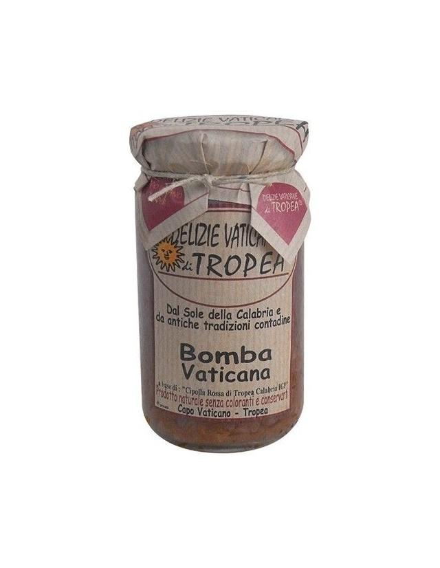 Bomba calabrese a base di peperoncino piccante e cipolla di Tropea