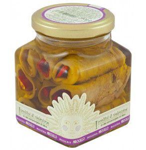 Involtini di melanzane e peperoni in olio extravergine