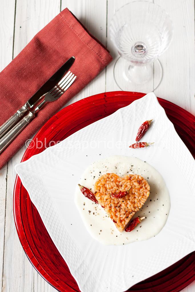 Riso con 'Nduja di Spilinga su crema di pecorino, per un San Valentino…piccante!