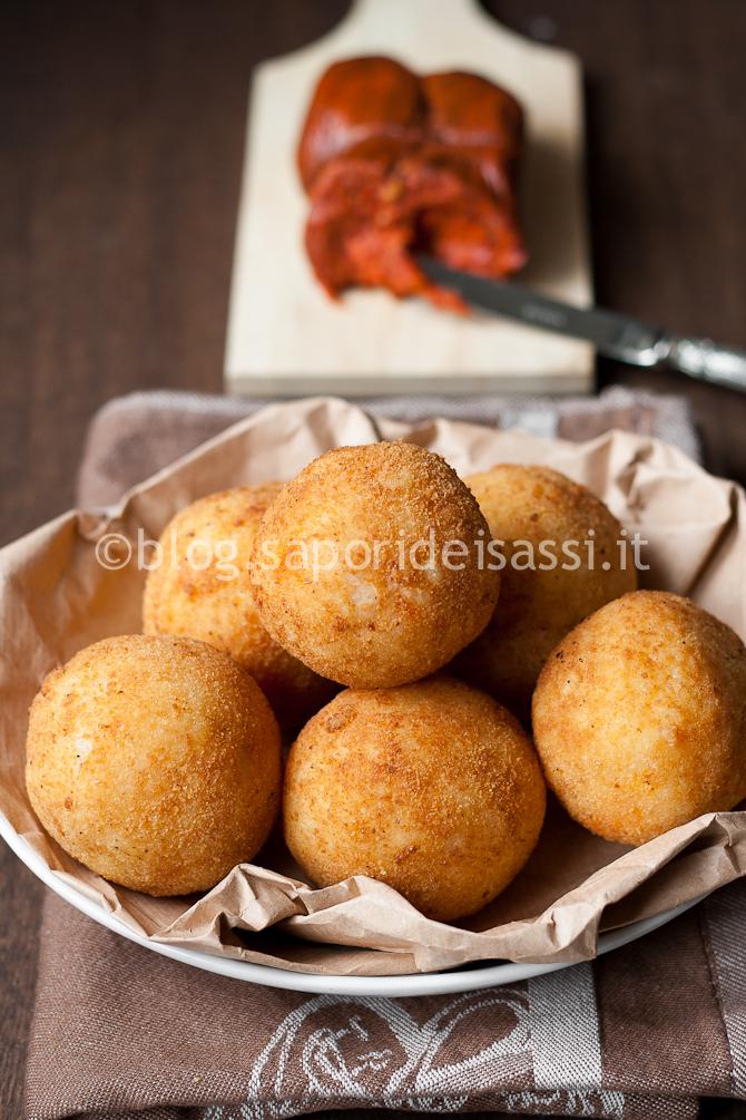 Arancine con cuore di Nduja Calabrese, evviva lo street-food!