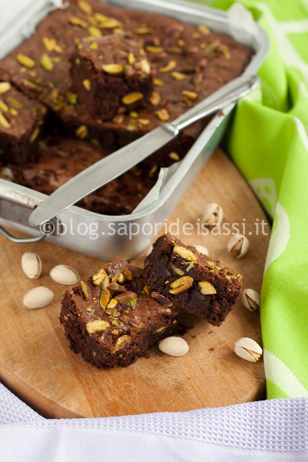 Brownies cioccolato e pistacchio