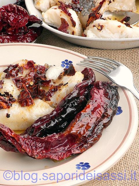 Baccalà con i peperoni cruschi, piatto tipico lucano.