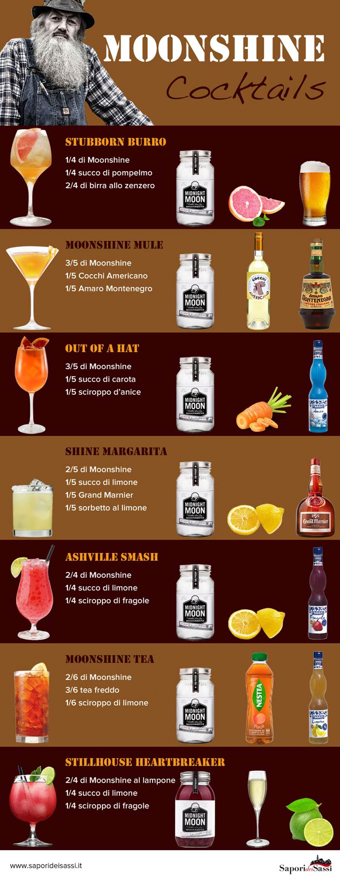 Cocktail a base di Moonshine