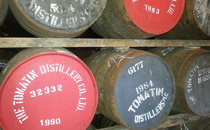 botti di whisky tomatin