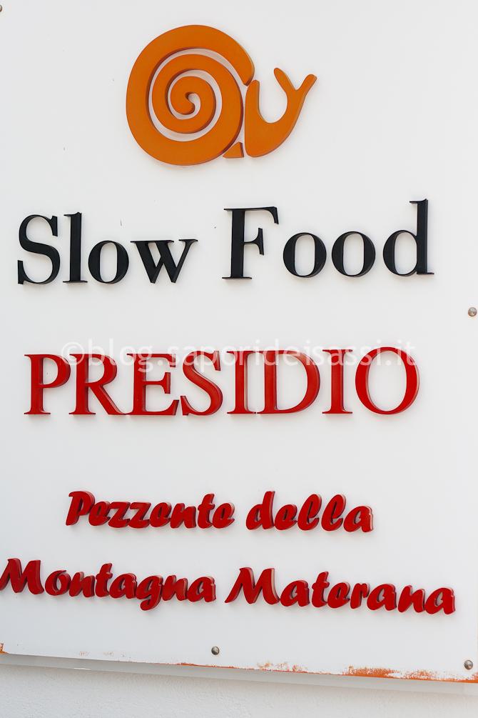 Pezzente della Montagna Materana, Presidio Slow Food.