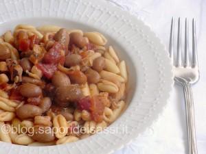 Cavatelli con Fagioli di Sarconi Tabacchino e frutti di mare.