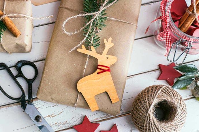 Decorare cesti natalizi