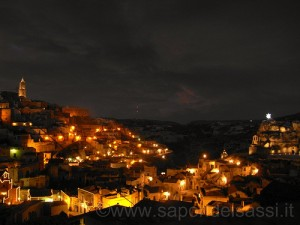 Matera, i Sassi di notte