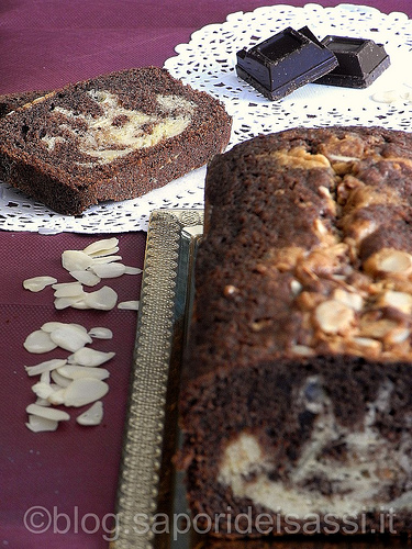 Plumcake marmorizzato al cioccolato