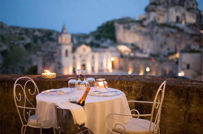 Vista panoramica ristorante Regia Corte