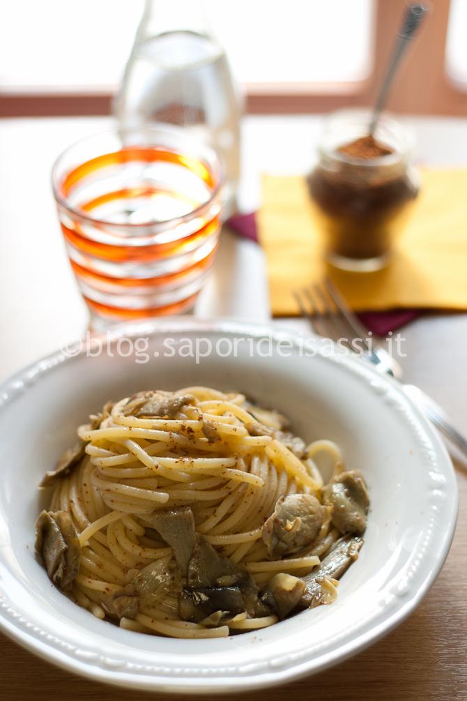 Spaghetti Bottarga e Carciofi