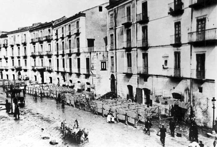 via Roma a Gragnano nel 1900