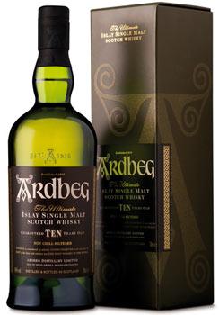 Ardbeg 10 Ten scotch whisky