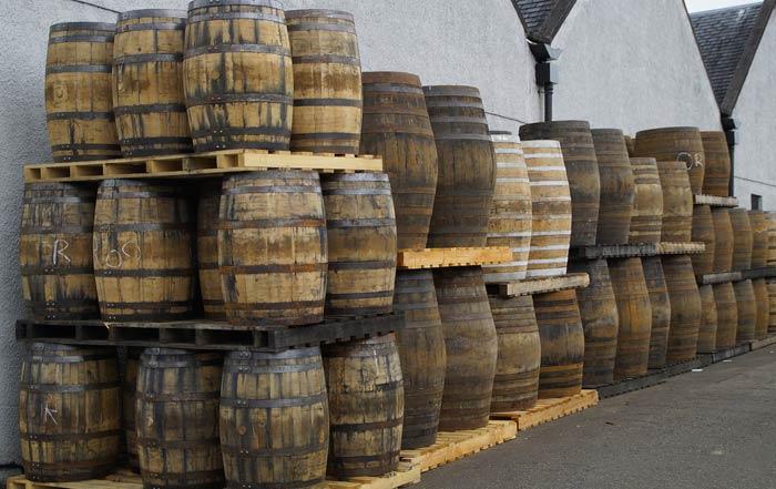 botti di whisky