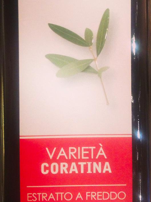 Caratteristiche olio extra vergine di Coratina