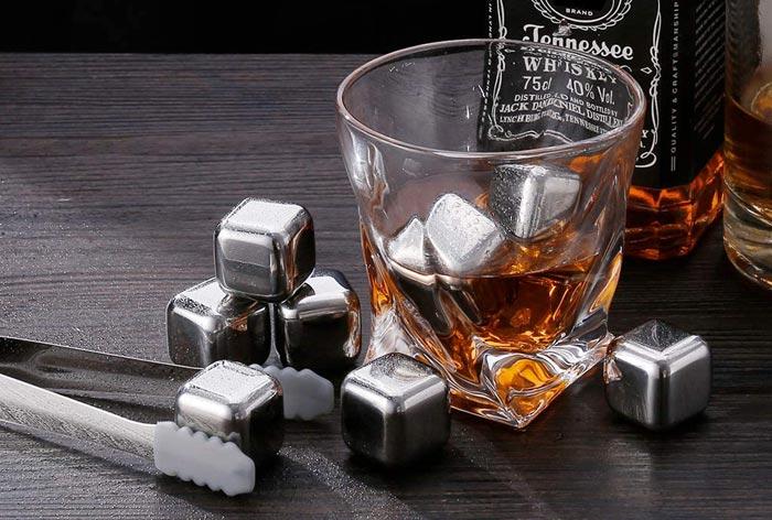pietre da whisky in acciaio
